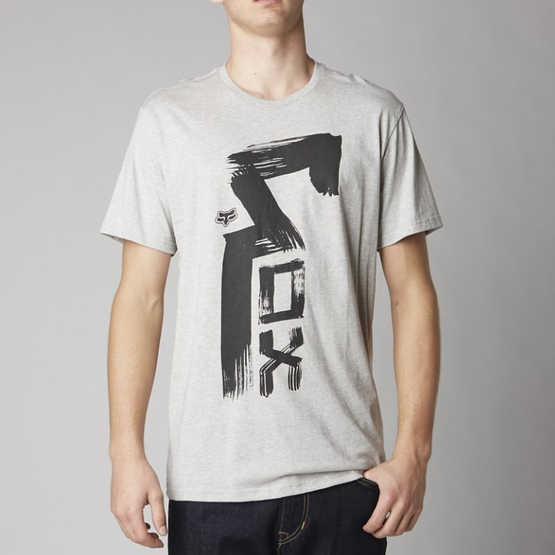 T-SHIRT FOX SKY STREAKER HEATHER GREY L