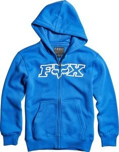 BLUZA FOX JUNIOR Z KAPTUREM NA ZAMEK LEGACY BLUE YXL