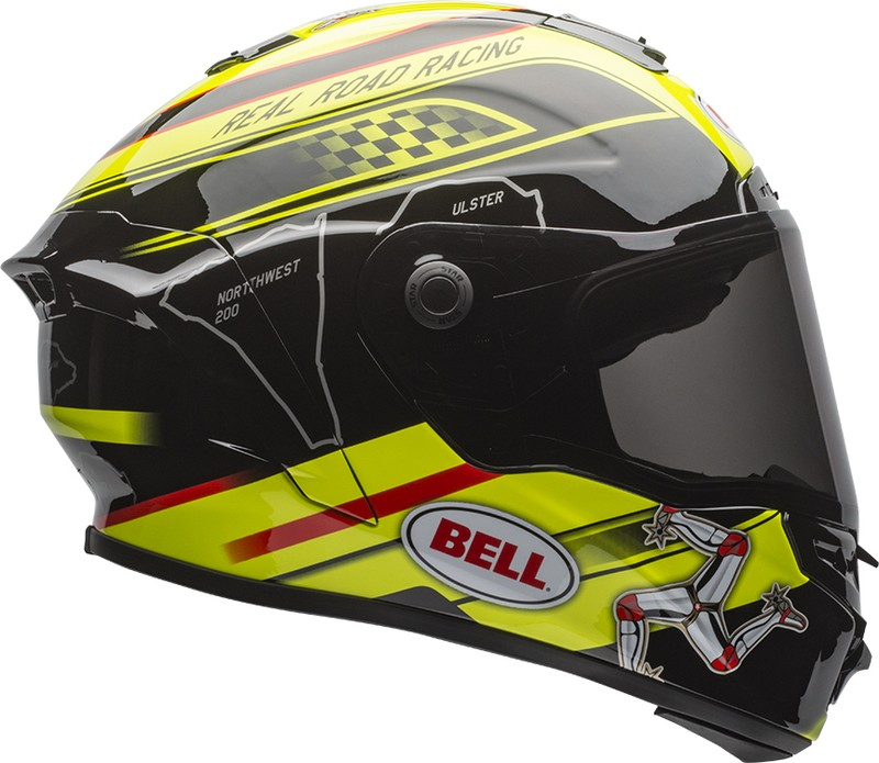 KASK BELL STAR ISLE OF MAN BLACK/YELLOW S