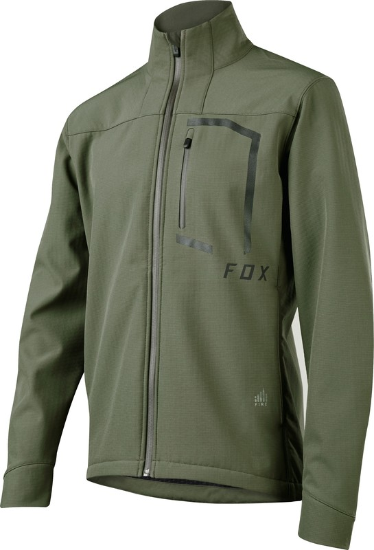 KURTKA ROWEROWA FOX ATTACK FIRE SOFTSHELL DARK FATIGUE