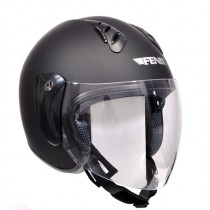 KASK OPEN FACE FENIX HY-818 BLACK MATT S