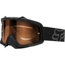 GOGLE FOX AIR SPACE ENDURO MATT BLACK - SZYBA ORANGE DUAL