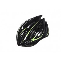 KASK ROWEROWY OZONE RD-01 BLACK/FLUO YELLOW L