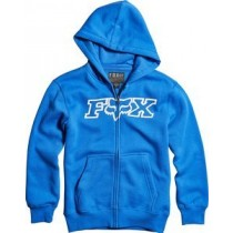 BLUZA FOX JUNIOR Z KAPTUREM NA ZAMEK LEGACY BLUE YL