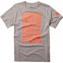 T-SHIRT FOX JUNIOR LIQUIFY HEATHER GREY YM