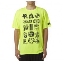 T-SHIRT FOX MTN DIVISION TECH FLO YELLOW M