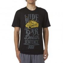 T-SHIRT FOX WIDE BAR TECH BLACK L