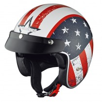 KASK HELD BLACK BOB DESIGN FLAG WHITE