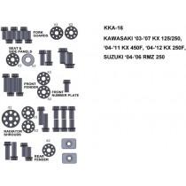 ZESTAW ŚRUB KEITI DO KAWASAKI 03-07 KX 125/250 04-11 KX 450F 04-12 KX 250F