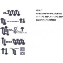 ZESTAW ŚRUB KEITI DO KAWASAKI 03-07 KX 125/250 04-14 KX 450F 04-12 KX 250F
