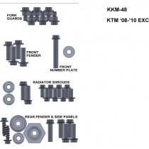 ZESTAW ŚRUB KEITI DO KTM 08-10 EXC