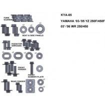 ZESTAW ŚRUB KEITI DO YAMAHA 03-05 YZ 250F/450F 03-06 WR 250/450