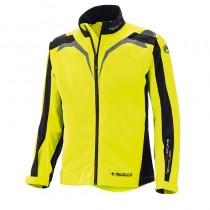 KURTKA TEKSTYLNA HELD RAINBLOCK TOP BLACK/FLUO YELLOW