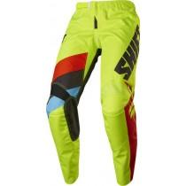 Spodnie motocyklowe SHIFT WHIT3 TARMAC FLO YELLOW