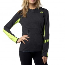 BLUZA FOX LADY Z KAPTUREM FLEXAIR HEATHER BLACK M