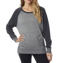 BLUZA FOX LADY ANGLED CREW HEATHER GREY