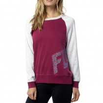 BLUZA FOX LADY ANGLED CREW BURGUNDY