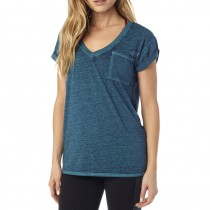 T-SHIRT FOX LADY WHIRLWIND V NECK INDIGO M