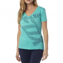 T-SHIRT FOX LADY ANGLED V NECK SPLASH S