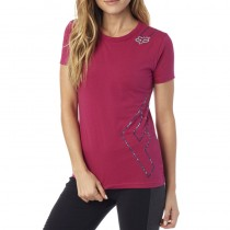 T-SHIRT FOX LADY CORNERED CREW BURGUNDY S