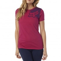 T-SHIRT FOX LADY PALPITATE CREW BURGUNDY