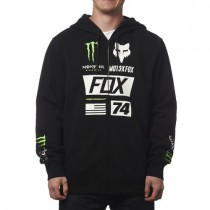 BLUZA FOX Z KAPTUREM NA ZAMEK MONSTER UNION BLACK XL