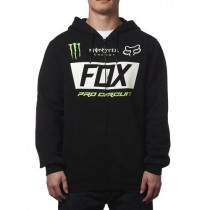 BLUZA FOX Z KAPTUREM NA ZAMEK MONSTER PADDOCK BLACK L