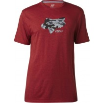 T-SHIRT FOX STENCILED HEATHER RED