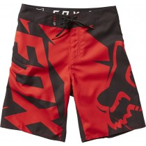 BOARDSHORT FOX JUNIOR MOTION FRACTURED FLAME RED