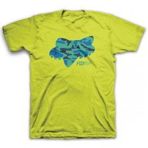T-SHIRT FOX JUNIOR STENCILED FLO YELLOW YXL