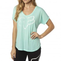 T-SHIRT FOX LADY RESPONDED VNECK H2O XS