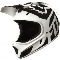 KASK ROWEROWY FOX RAMPAGE RACE WHITE/BLACK XL