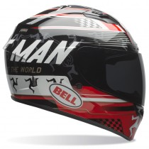KASK BELL QUALIFIER DLX ISLE OF MAN BLACK/RED XS
