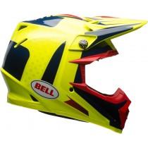 KASK BELL MOTO-9 FLEX VICE BLUE/YELLOW