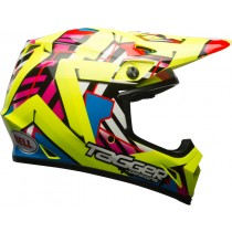 KASK BELL MX-9 MIPS DOUBLE TROUBLE HI VIZ YELLOW