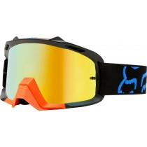 GOGLE FOX JUNIOR AIR SPACE PREME BLACK/YELLOW - SZYBA ORANGE SPARK + CLEAR (2 SZYBY W ZESTAWIE)