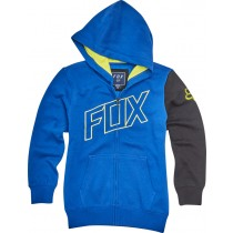 BLUZA FOX JUNIOR Z KAPTUREM NA ZAMEK MOTO VATION BLUE YL