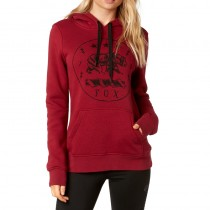 BLUZA FOX LADY Z KAPTUREM TRANSLUNAR DARK RED