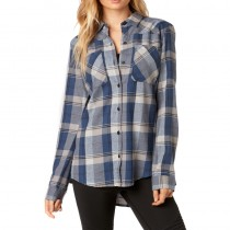 KOSZULA FOX LADY FLOWN FLANNEL DUST BLUE