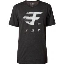 T-SHIRT FOX FADE TO TRACK TECH HEATHER BLACK