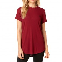 T-SHIRT FOX LADY RESOUNDING DARK RED