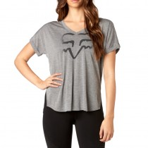 T-SHIRT FOX LADY RESPONDED HEATHER GREY M