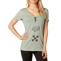 T-SHIRT FOX LADY TRANSISTOR SAGE