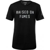T-SHIRT FOX RAISED ON FUMES TECH BLACK