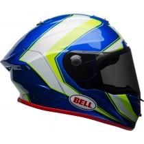 KASK BELL RACE STAR SECTOR WHITE/HI VIZ GREEN/BLUE