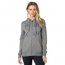 BLUZA FOX LADY Z KAPTUREM NA ZAMEK STAGED HEATHER GRAPHITE M