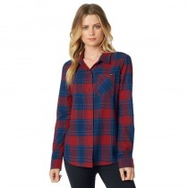 KOSZULA FOX LADY KICK IT FLANNEL DARK RED S