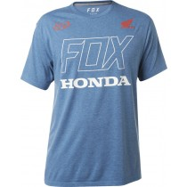 T-SHIRT FOX HONDA TECH DUSTY BLUE L