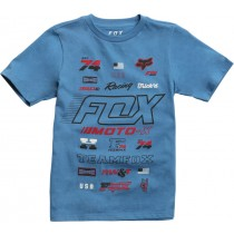 T-SHIRT FOX JUNIOR EDIFY DUSTY BLUE YXL