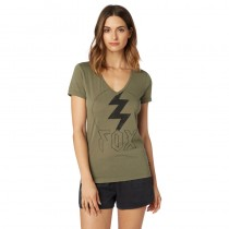 T-SHIRT FOX LADY REPENTED V NECK FATIGUE GREEN M